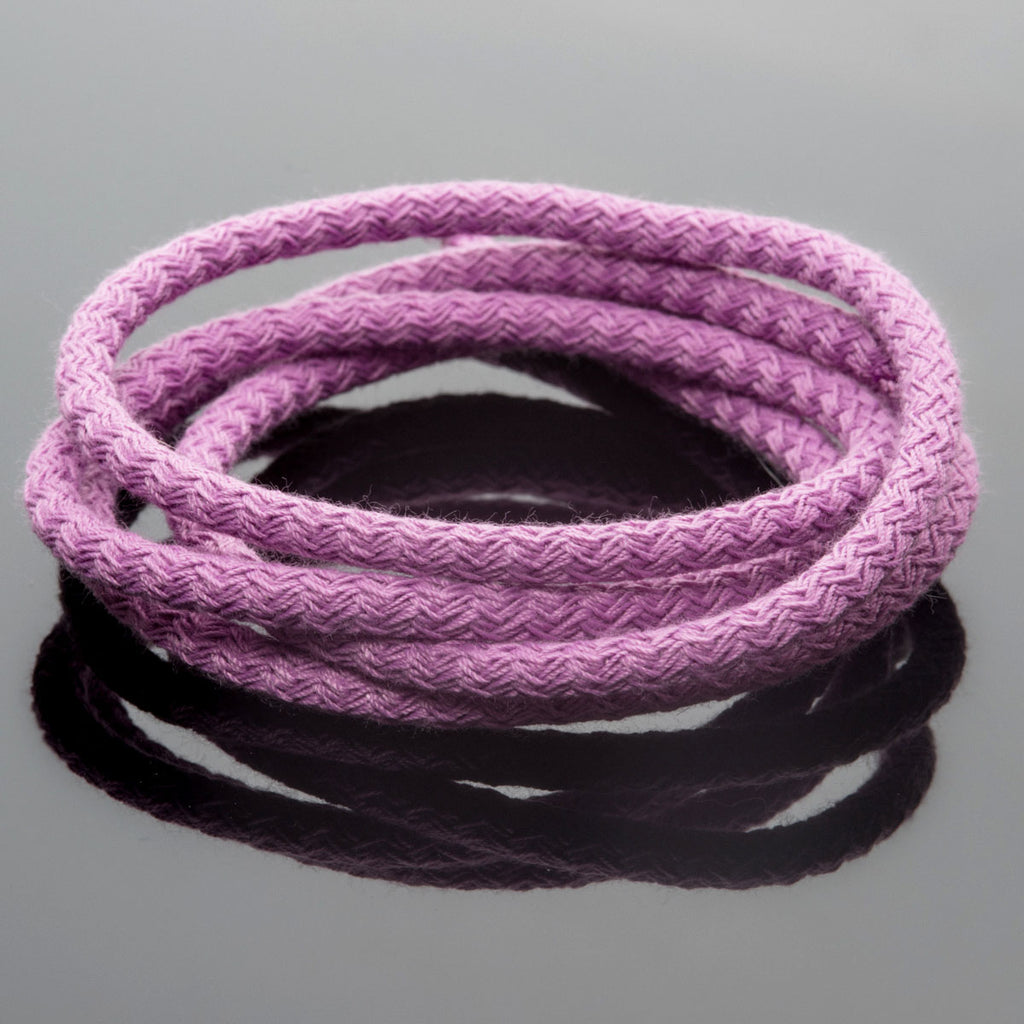 5 Feet 5mm Braided Nylon climbing cord cotton core, Orchid