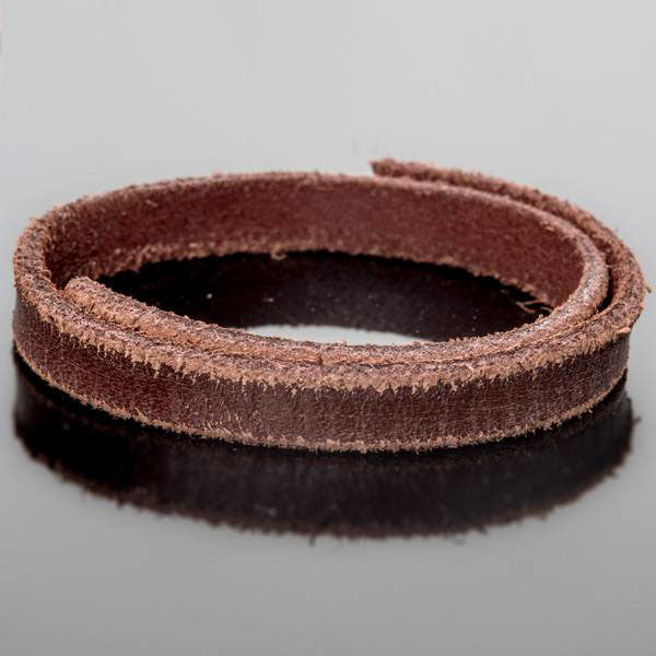 1 or 3 Feet 10mm flat leather highly distressed weathered brown 10mm