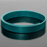 1 Foot stiff 10mm leather strap, two sided color, Metallic Truly Teal