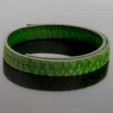 1 Foot premium vintage green flat leather, 10 x 2mm