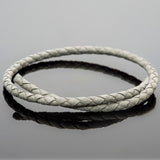 CLEARANCE 4mm round Denver gray woven leather bolo cord, 1 Foot