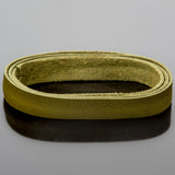1 Foot soft high quality 10mm leather deertan flat cord, Mehandi Olive
