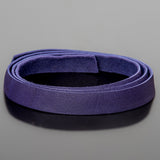 1 Foot soft high quality 10mm leather deertan flat cord, Violet