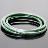 CLEARANCE 5mm premium round leather in Silvered spring green, 3 Feet