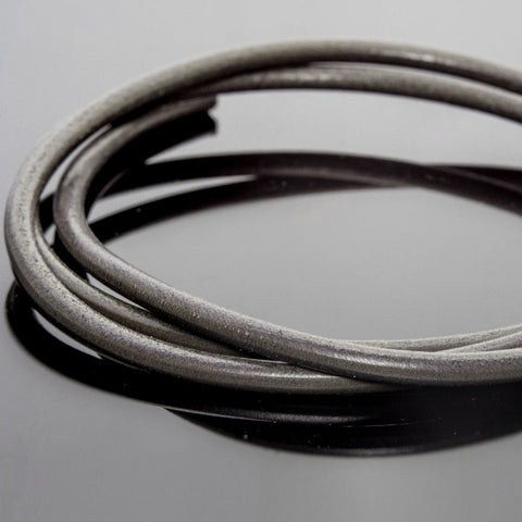 3 Feet 5mm premium round leather in slate grey