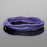 2mm Flat Suede lace cord Blue Purple, 8 Feet