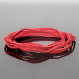 2mm Flat Suede lace cord Red, 8 Feet