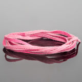 2mm Flat Suede lace cord Pink, 8 Feet