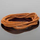 2mm Flat Suede lace cord Camel brown, 8 Feet