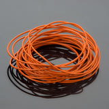 0.5 Round leather cord in Tahiti orange, 10 Feet