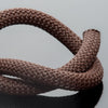 2 Feet 10mm Round Braided Nylon climbing cord cotton core, Chocolate Brown