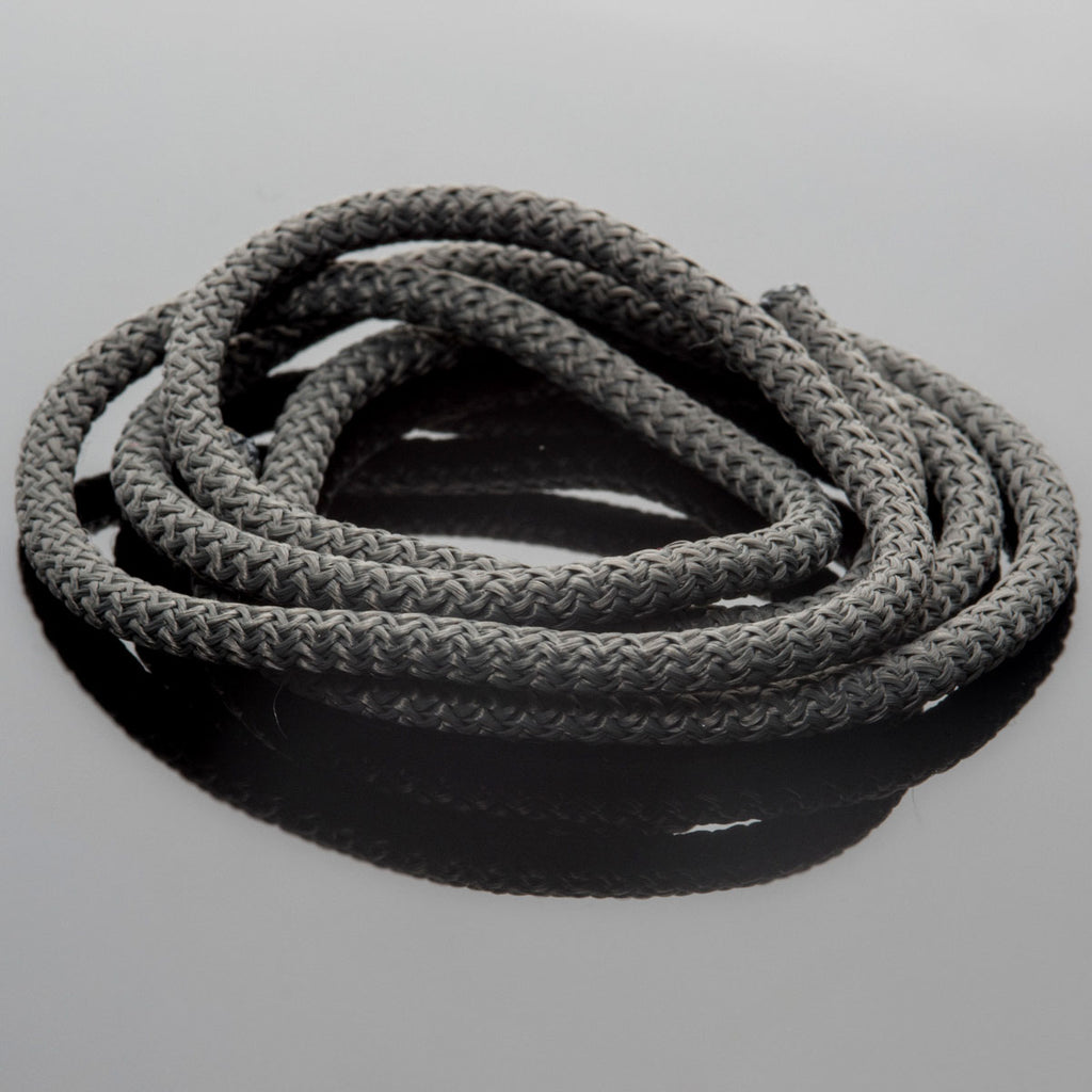 5 Feet 5mm Braided Nylon climbing cord cotton core, Dark Grey