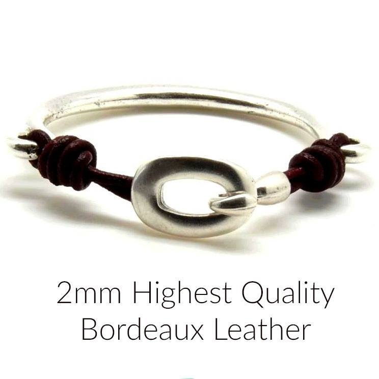 LEATHER - 3 Feet Or 15% Off 10 Feet Round Highest Quality Leather, Bordeaux, 2mm