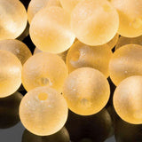 One strand of 48 Cultured Faux Sea Glass Round Beads, Lemon, 4mm