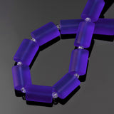 12 Sea glass Light Sapphire rectangle pillow beads, 14 x 10mm
