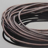 1.5mm Round leather cord Natural antique brown, 10 Feet