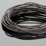 1mm round leather cord Natural dark brown, 10 Feet