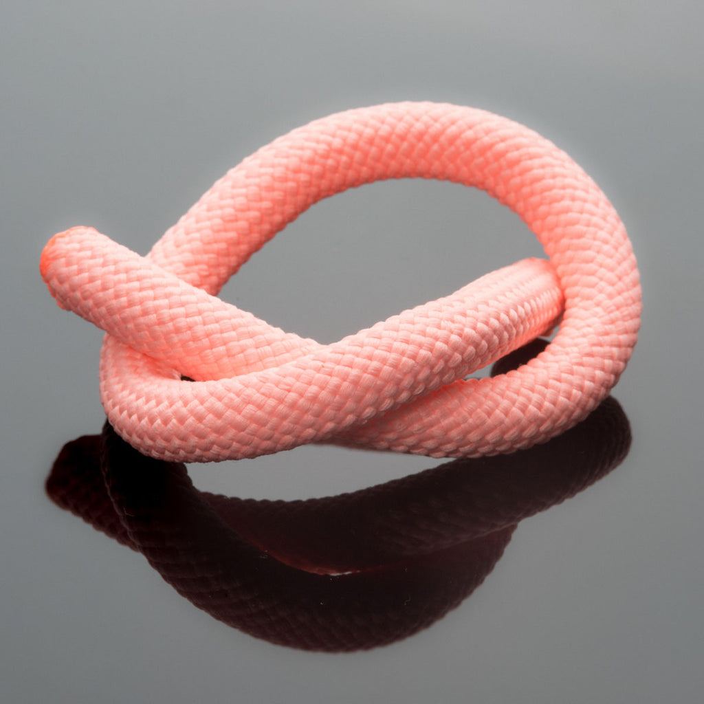 2 Feet 10mm Round Braided Nylon climbing cord cotton core, Salmon Pink