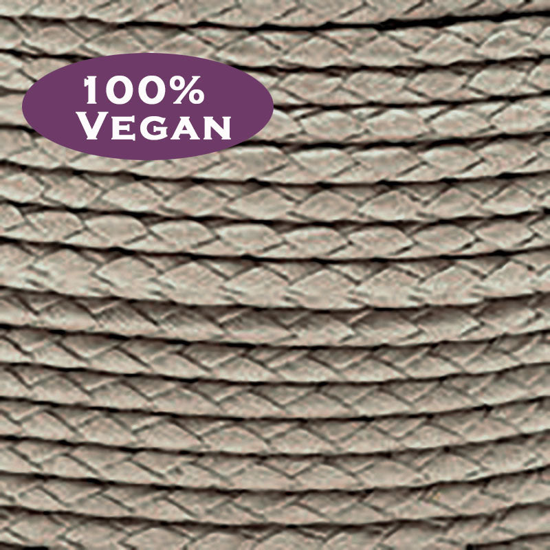 Vegan Cotton (100% animal product free) 2mm Sand Braided Bolo Cording, 4 Feet