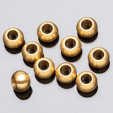 20 Brass gold plated ball beads, 6 x 4 mm, Hole 3mm