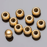 20 Brass ball beads, 6 x 4mm, Hole 2.75mm