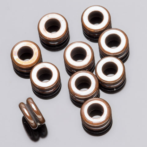 15 Antique Bronze cast Yo-yo beads, 5 x 3.25mm, Hole 2.5mm
