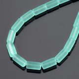 One strand of 24 Cultured Sea Glass tube beads, 9 x 4mm, Seafoam