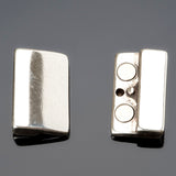 Magnetic clasp for flat leather or multiple cords, for 20mm flat leather