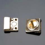 Golden shadow Swarovski crystal magnetic clasp, Silver Zamak, Hole: 10 x 2mm