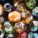 CLEARANCE 25 Luster AB Multicolor mix 6mm Czech firepolished rounds