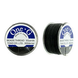 50 Yard Spool, Black Toho One-G 100% Nylon beading thread