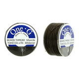 50 Yard Spool, Brown Toho One-G 100% Nylon beading thread