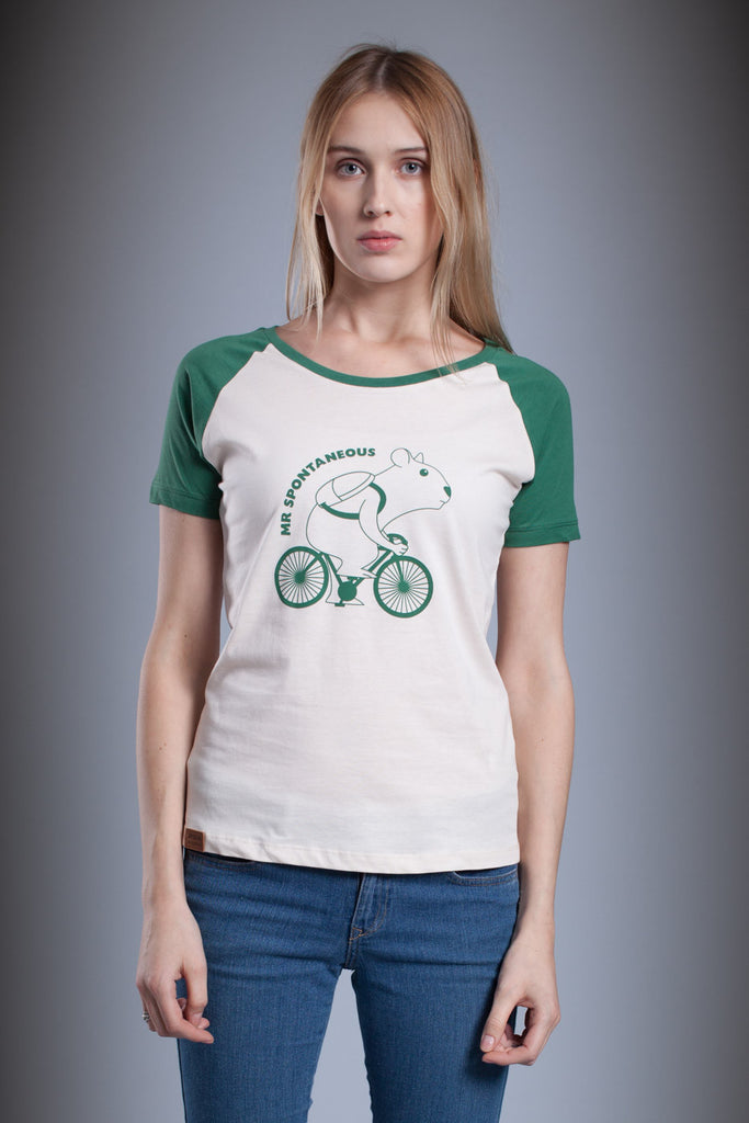 Aponia Hamster Bike Ladies' Raglan T-shirt