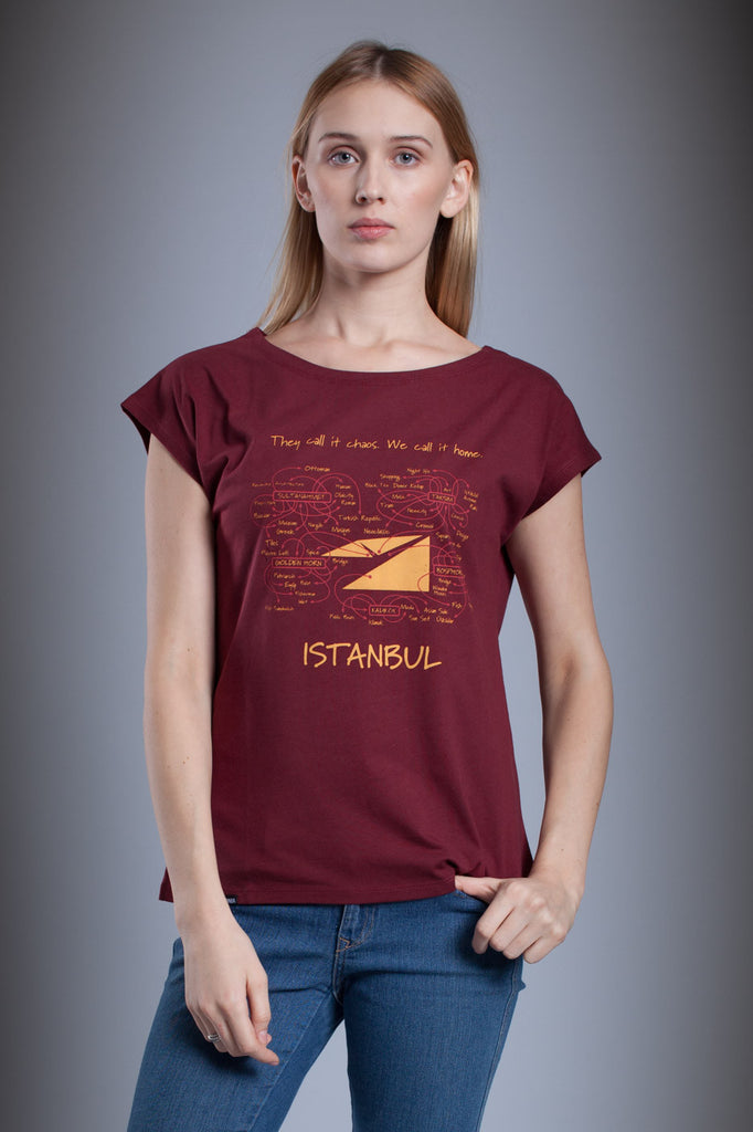 Aponia Istanbul Map Ladies' T-shirt