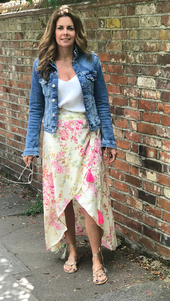 Flower Wrap Skirt