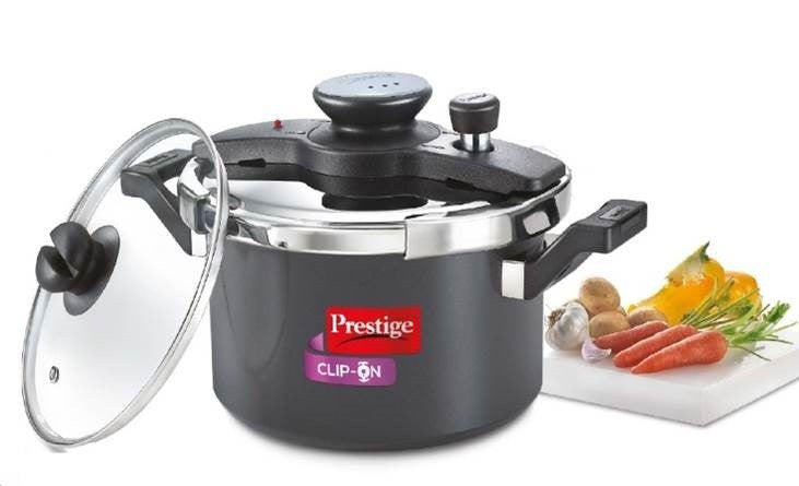 Clip-on Hard Anodised 5 Litre Pressure Cooker