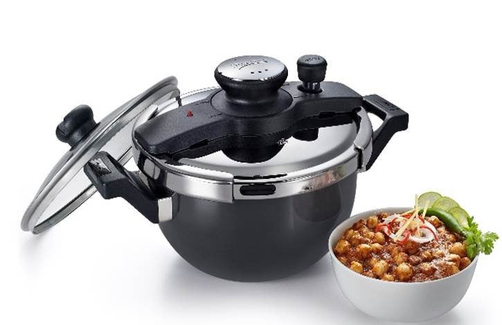 Clip-on Hard Anodised Kadai Pressure Cooker