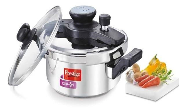 Clip-on Stainless Steel 3 Litre Pressure Cooker