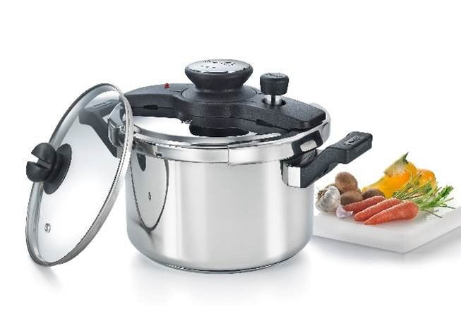 Clip-on Stainless Steel 5 Litre Pressure Cooker