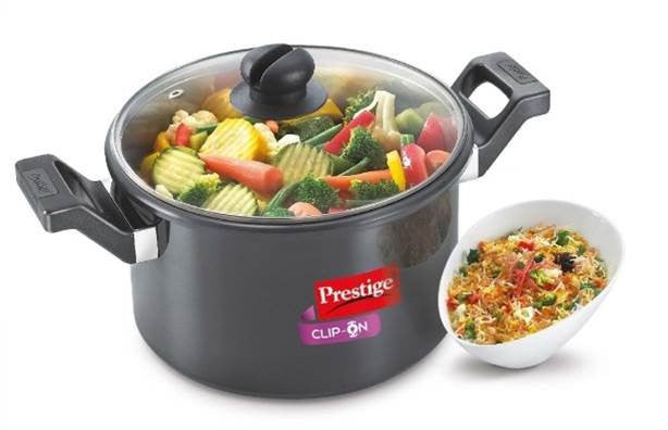 Clip-on Hard Anodised 5 Litre Pressure Cookware