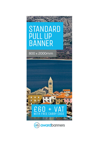 Replacement Graphic - 800mm wide Pull Up Banner