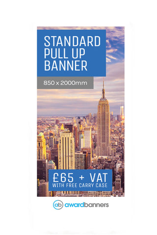 Replacement Graphic - 850mm wide Pull Up Banner