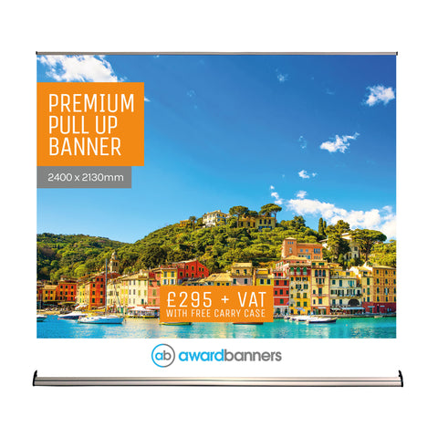 Premium Pull Up Banner - 2400mm Wide