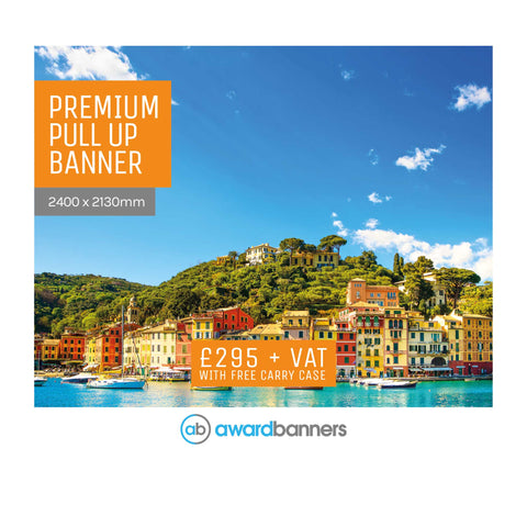 Replacement Graphic - 2400mm wide Pull Up Banner