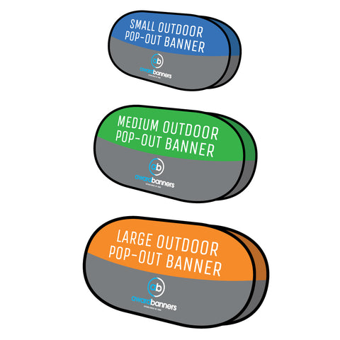 Outdoor Pop Out Banner