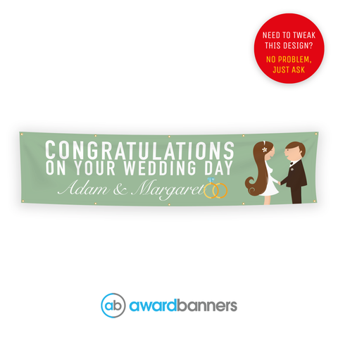 Husband and Wife PVC Congratulations Banner - AB126