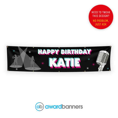 Dancers PVC Birthday Banner - AB143