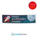 Space and Rocket PVC Birthday Banner - AB192