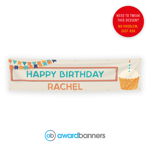 Personalised Birthday Cake PVC Banner - AB225