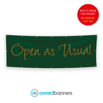 Open As Usual Pre-Designed Banner - AB108